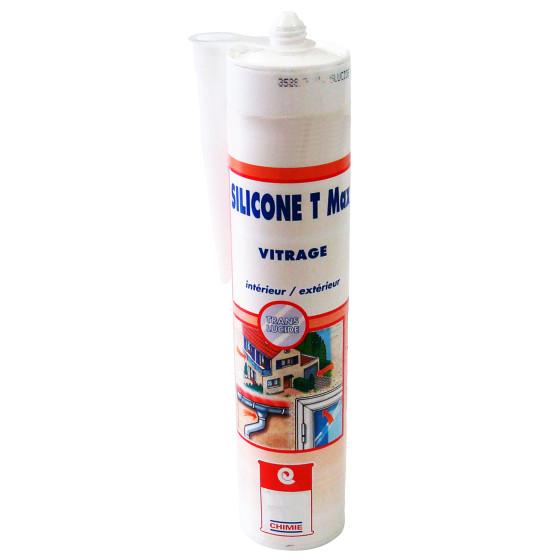 Mastic Joint silicone translucide verrière - MASTIC SILICONE T MAX