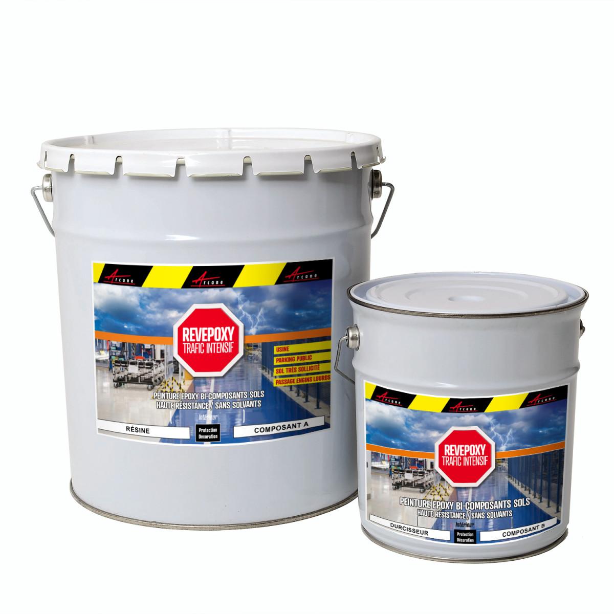 Peinture bi composant revêtement epoxy industriel - REVEPOXY TRAFIC INTENSIF