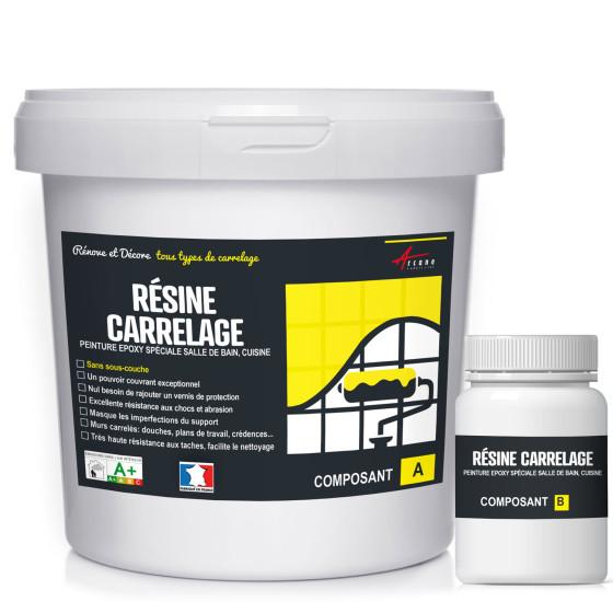 peinture époxy pour mur carrelage cuisine salle de bain résine renovation  revêtement mural - RÉSINE CARRELAGE