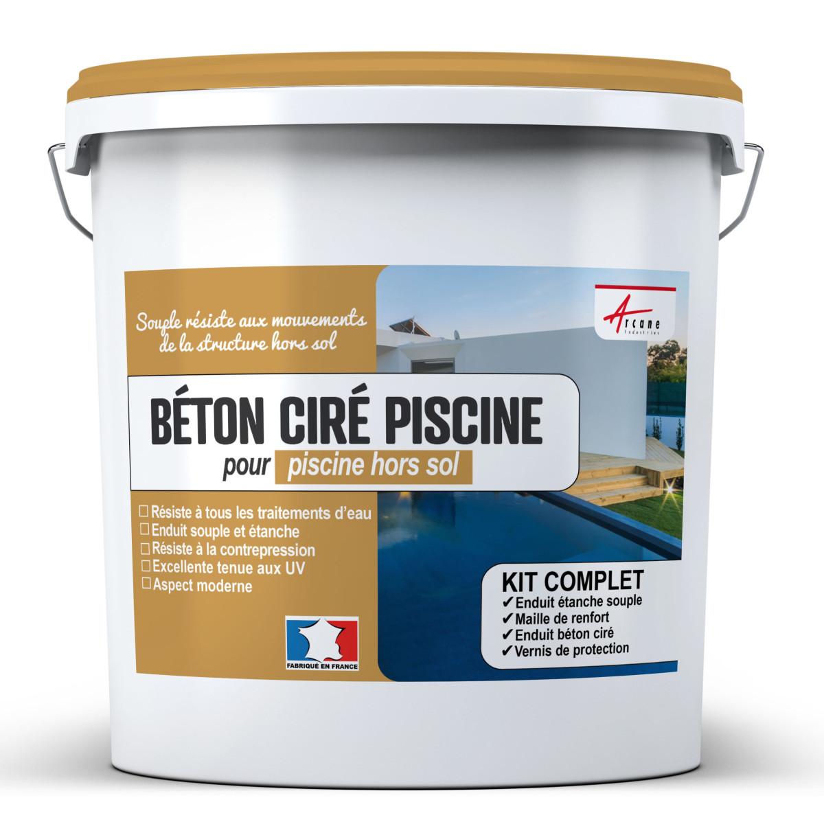 Kit Béton ciré piscine hors sol - revêtement étanche PISCINE haute résistance