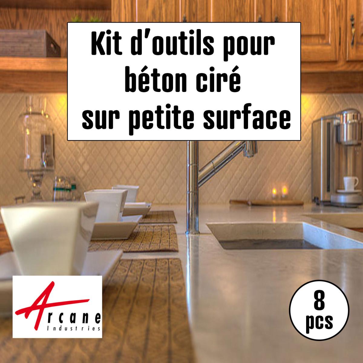 outils d'application pour béton ciré petite surface escalier cuisine sdb
